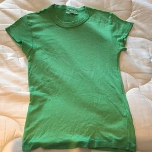 Green  t shirt one size fits most